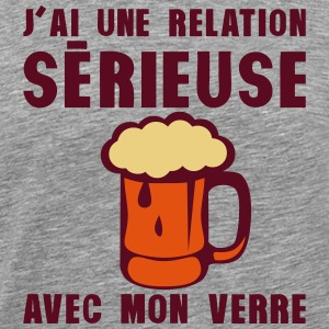 tday2015 relation serieuse verre biere Tee shirts - T-shirt Premium Homme