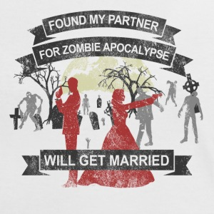 Wedding - My partner for Zombie Apocalypse - Frauen Kontrast-T-Shirt