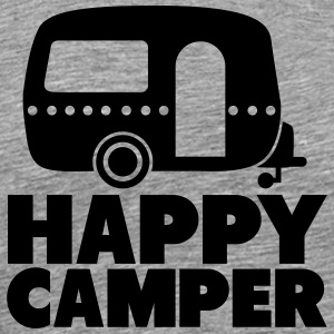 happy camper T-shirts - Mannen Premium T-shirt