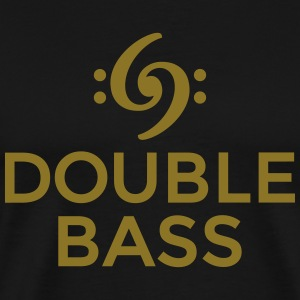 Kontrabass T-Shirt Double Bass Gold - Männer Premium T-Shirt