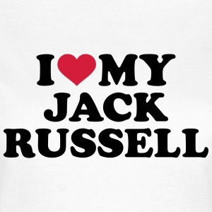 I love my Jack Russell T-Shirts - Frauen T-Shirt