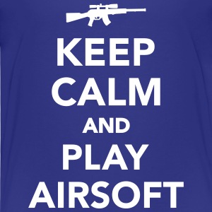 Keep calm and play airsoft T-Shirts - Kinder Premium T-Shirt