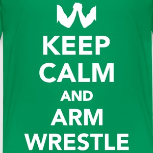Keep calm and arm wrestle T-Shirts - Kinder Premium T-Shirt