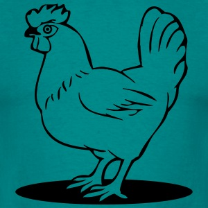 Chicken button T-Shirts - Men's T-Shirt