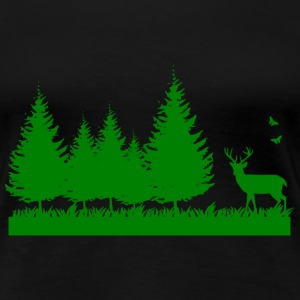Forest nature environment T-shirts - Vrouwen Premium T-shirt
