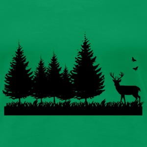 Forest nature environment T-Shirts - Frauen Premium T-Shirt