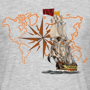 sailing ship T-shirts - T-shirt herr