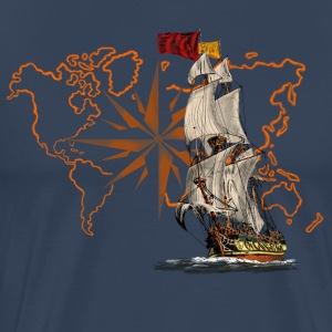 sailing ship T-Shirts - Men's Premium T-Shirt