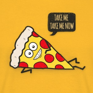 Funny Cartoon Pizza - Statement / Funny / Quote T-Shirts - Männer T-Shirt