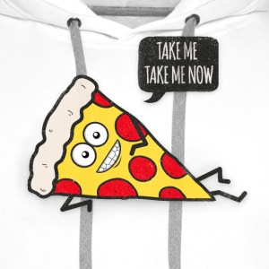 Funny Cartoon Pizza - Statement / Funny / Quote Sweat-shirts - Sweat-shirt à capuche Premium pour hommes
