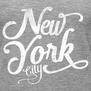 New York City typografia Topy - Tank top damski Premium