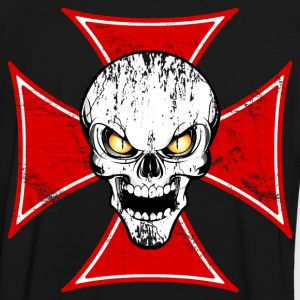 skull and maltese cross Tee shirts - T-shirt contraste Homme