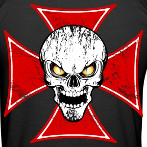 skull and maltese cross Tee shirts - Tee shirt près du corps Homme
