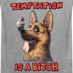 Temptation is a Bitch Tanktops - Mannen Premium tank top