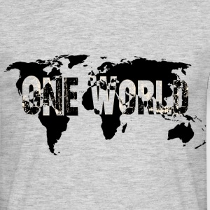 One World Black-White - Männer T-Shirt