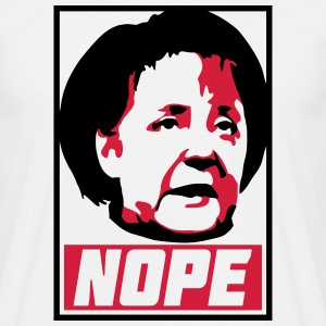 Nope Merkel - Men's T-Shirt