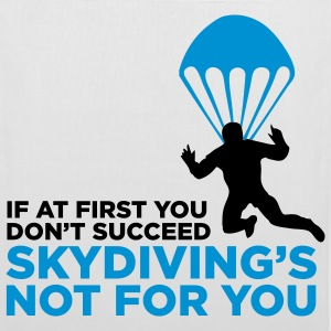 Skydiving is not for the unlucky ones! Bags & Backpacks - Tote Bag