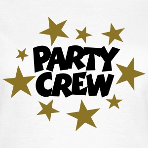 Party Crew T-Shirt Schwarz/Gold (Damen) - Frauen T-Shirt