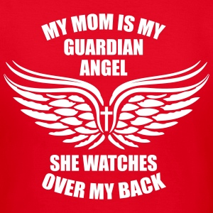 BEIDSEITIG! My Mom is my Guardiyn Angel T-Shirt - Frauen T-Shirt