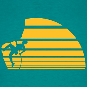 Sun Cliff moon night climbing rope lines T-Shirts - Men's T-Shirt