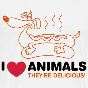 I love animals. They are absolutely delicious! T-Shirts - Men's Premium T-Shirt