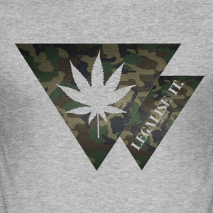Cannabis Legalise Camouflage T-Shirts - Männer Slim Fit T-Shirt