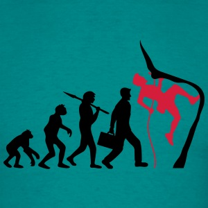 Climbing rope climbers evolution T-Shirts - Men's T-Shirt