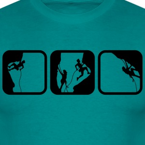 climbing man logos boxes in the evening 3 T-Shirts - Men's T-Shirt