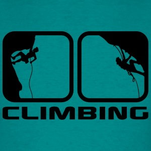 climbing man logos boxes evening climbing 2 T-Shirts - Men's T-Shirt