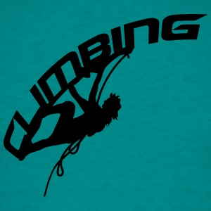 climbing text logo T-Shirts - Men's T-Shirt