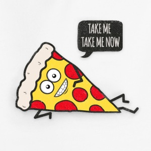 Funny Cartoon Pizza - Statement / Funny / Quote Tröjor - Premium-Luvtröja barn
