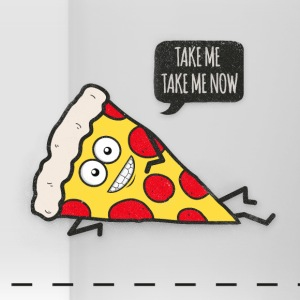 Funny Cartoon Pizza - Statement / Funny / Quote Mokken & toebehoor - Panoramamok
