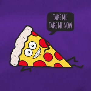 Funny Cartoon Pizza - Statement / Funny / Quote Tassen & rugzakken - Sporttas
