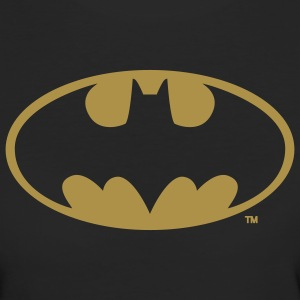 Batman Logo Or Paillette Tee Shirt - T-shirt Bio Femme