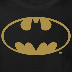 Batman Logo Or Paillette Tee Shirt - T-shirt Bio Enfant
