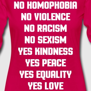 No Homophobia  Long Sleeve Shirts - Women's Premium Longsleeve Shirt
