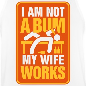 I m not a bum. My wife works! Sports wear - Men's Breathable Tank Top