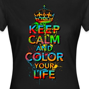 KEEP CALM, music, cool, text, sports, love, retro T-shirts - Dame-T-shirt