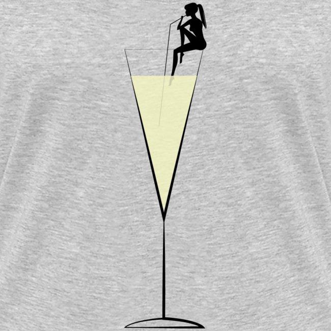 Champagne V-neck