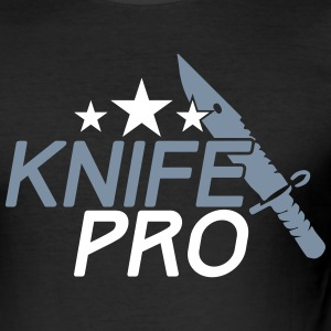 KNIFE PRO T-Shirts - Männer Slim Fit T-Shirt