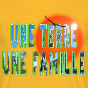 une terre une famille Tee shirts - T-shirt Homme