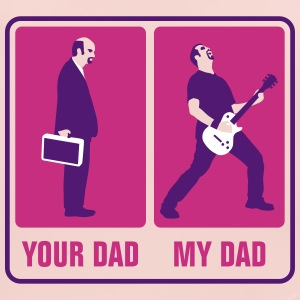 your_dad_my_dad_guitar_player03_3c Accessoires - Baby Bio-Lätzchen