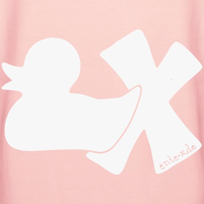 Hoodie Ente mit X, weiß glitzer!, hinten