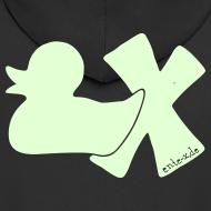 Motiv ~ Hoodie Ente mit X, phosphoriszierend!, hinten