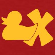 Motiv ~ Ökotshirt mit Ente mit X, goldgelb, hinten