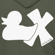 Motiv ~ Hoodie Ente mit X, weiß glitzer!, hinten
