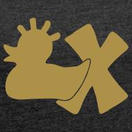 Motiv ~ Shirt mit Punkerente mit X, gold glitzer!, vorne