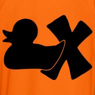Motiv ~ Fußballtrikot mit Ente mit X