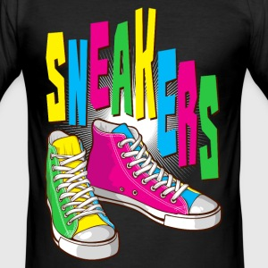 Funky sneakers - Männer Slim Fit T-Shirt