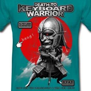 Bleu diva KEYBOARD WARRIOR Tee shirts - T-shirt Homme